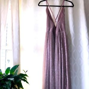 Iridescent Mermaid Pink pale Mauve Gown
